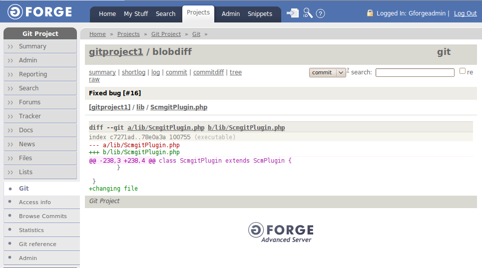 git support in GForge – The GForge Group